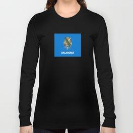 flag of oklahoma-Oklahoma,south,Oklahoman,Okie, usa,america,Tulsa,Norman,Broken Arrow Long Sleeve T-shirt