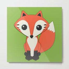 Forest Fox Nursery Set Metal Print