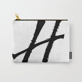 Letter H Ink Monogram Carry-All Pouch
