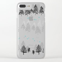 Winter Wilderness Clear iPhone Case