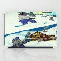 snowboarding iPad Cases featuring Snowboarding ; Putting In Your Eight Hours by N_T_STEELART