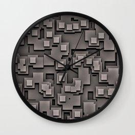 Illusion Gray City Wall Clock