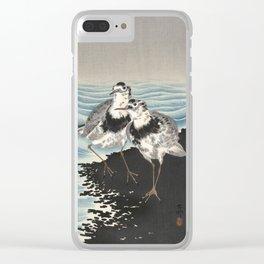 Japanese Woodcut - Coastal Birds Clear iPhone Case