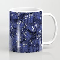 fandom Mugs featuring Tardis by 10813 Apparel
