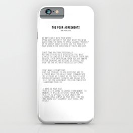 The Four Agreements BW #minimalism iPhone Case