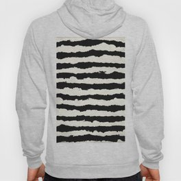 Tribal Stripes Black on Cream Hoody