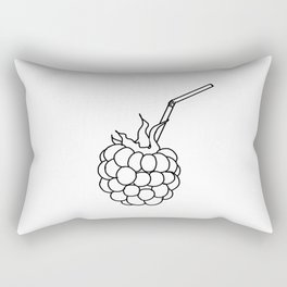 the raspberry cocktail with a straw ( https://society6.com/totalflora/collection ) Rectangular Pillow