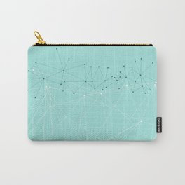 LIGHT LINES ENSEMBLE IX TURQUOISE Carry-All Pouch