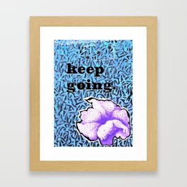 keep going collage Framed Art Print
