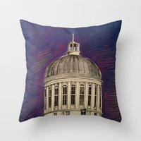 montreal Throw Pillows featuring Montreal by Shazia Ahmad