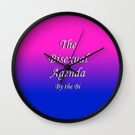 The Bisexual Agenda Wall Clock