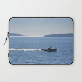 Lobster Boat And Islands Off Mount Desert Island Maine Laptop Sleeve