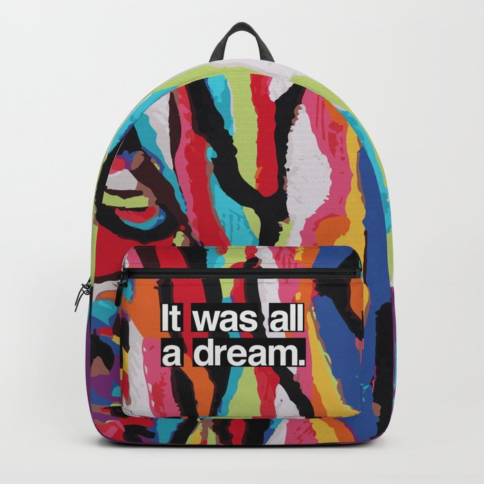"""It Was All A Dream"" Biggie Smalls Inspired Hip Hop Design Rucksack"