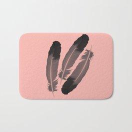 Pink & Feather Bath Mat