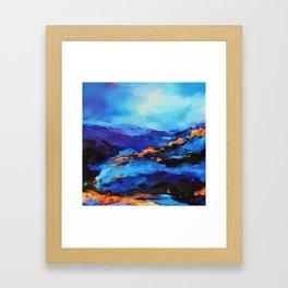 Blue shades Framed Art Print