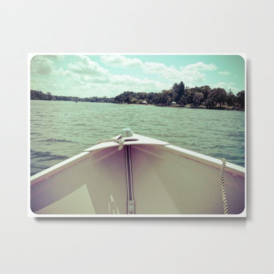 Sometime This Life, I'm Going to Sail Away Metal Print