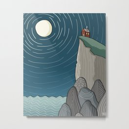 House on a Cliff Metal Print