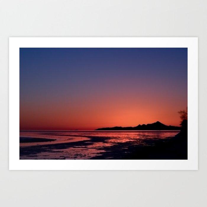 Mt._Iliamna Winter Sunset Art Print