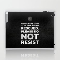 STAR ROGUE ONE WARS - K2SO QUOTE. CONGRATULATIONS YOU ARE BEING RESCUED Laptop & iPad Skin