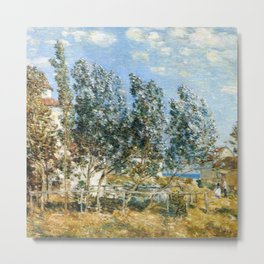 Classical Masterpiece 'The Southwest Wind'' by Frederick Childe Hassam Metal Print