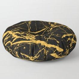 Orange Marble - Abstract, textured, marble pattern Floor Pillow