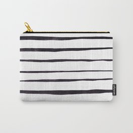 Black Ink Linear Experiment Carry-All Pouch