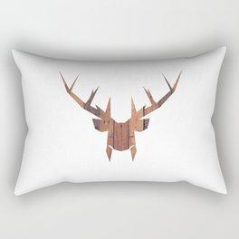 Wooden Deer Rectangular Pillow