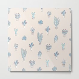 Succulent Pattern Desert Collection - #decor #buyart Metal Print