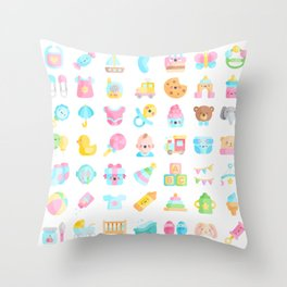 CUTE BABY PATTERN Throw Pillow