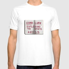 Good Luck Exploring the infinite abyss Mens Fitted Tee White MEDIUM