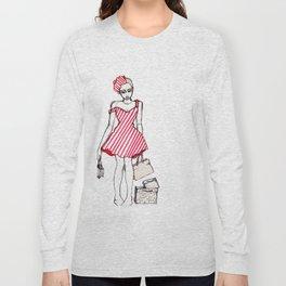 Frazzled Shopper Long Sleeve T-shirt