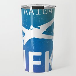 Airport codes JFK Colors Travel Mug