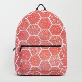 Coral Pink Honeycomb Backpack
