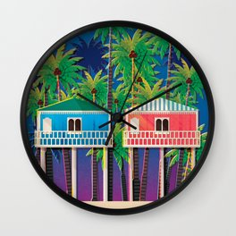 Palolem Beach Huts Wall Clock