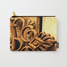 Metalwork and Wood Carry-All Pouch
