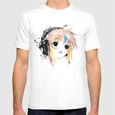 Yuki Remix MEDIUM White Mens Fitted Tee