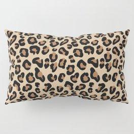 Leopard Print, Black, Brown, Rust and Tan Pillow Sham