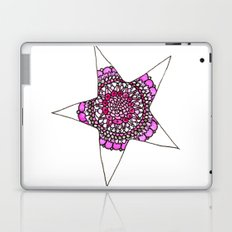 Pink Superstar Mandala Star Laptop & iPad Skin
