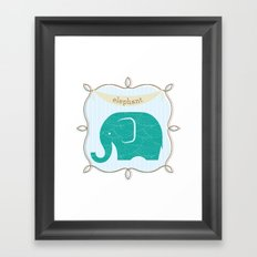 Fun at the Zoo: Elephant Framed Art Print