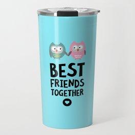 Owls Best friends Heart T-Shirt Dlse3 Travel Mug