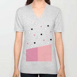 Spring Fashion Pattern #cute #blush #kirovair #pattern #pink #coral #home #decor Unisex V-Neck