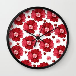 Red passion Wall Clock