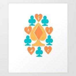Magic Inside Hearts Art Print