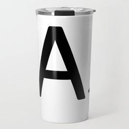 Letter A - Custom Scrabble Letter Wall Art - Scrabble A Travel Mug