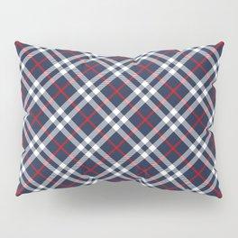 Red White and blue Tartan Pillow Sham