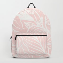 Pink Coral Floral Garden Backpack