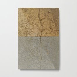 Concrete and gold Metal Print