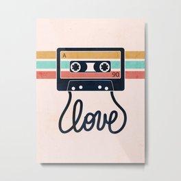 Vintage Love Songs Metal Print