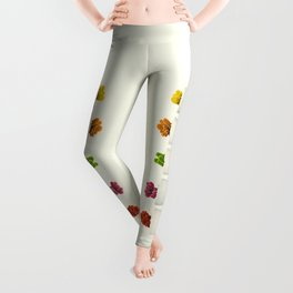 Creamy Cactus Colors Cuteness Cups Leggings