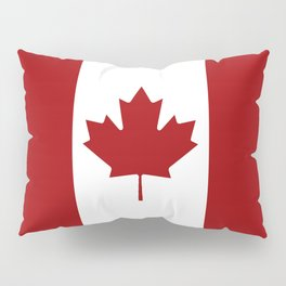 Canada: Canadian Flag (Red & White) Pillow Sham